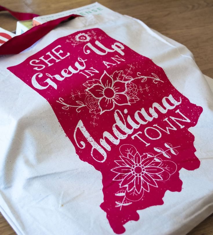 She grew Up in an Indiana Town Tote Bag.For all the Indiana Girls! by TribeAndTrade on Etsy
