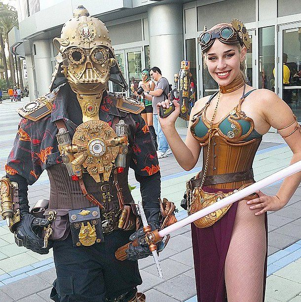 Steampunk Leia and Darth Vader are possibly even cooler than the real thing.