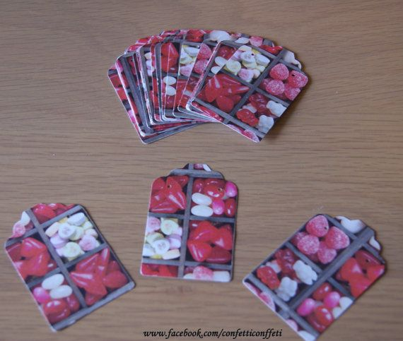 24 x Jewellery Tags Cards  Sweet Shop Pattern  by ConfettiConffeti, $3.20