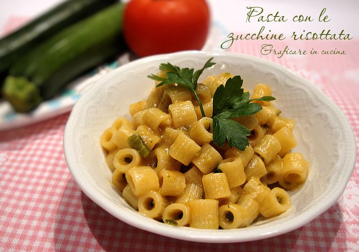Pasta con le zucchine risottata