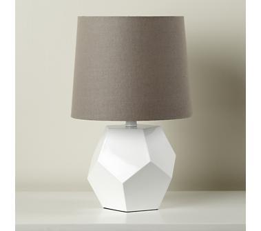 white geo lamp