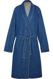 BalenciagaBelted denim coat