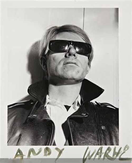 Andy Warhol by photographed by Weegee.