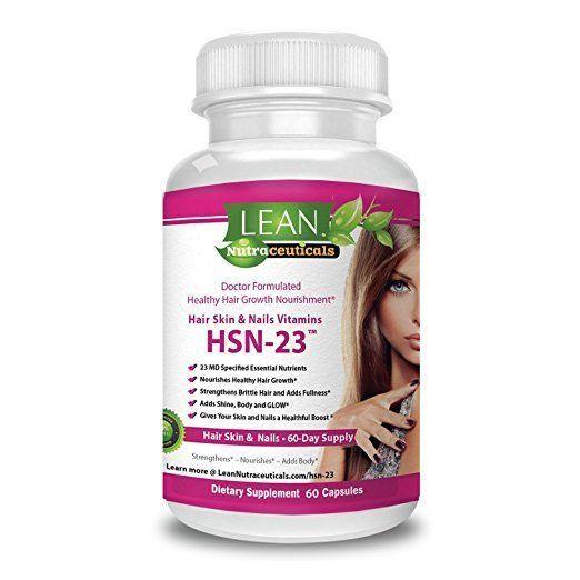 Hair Skin Lash Nails Supplement Promotes Growth Radiant Skin Biotin 23 Vitamins #Unbranded