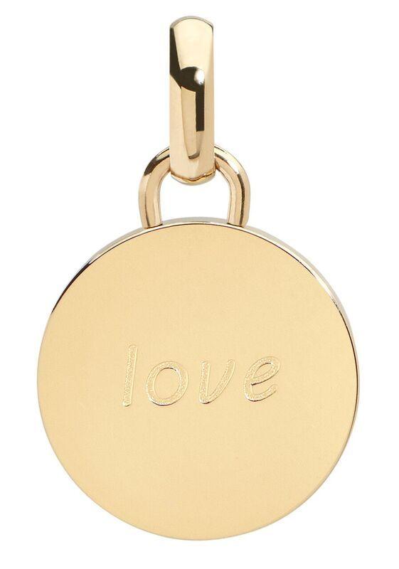Love pendant, 15mm, gold