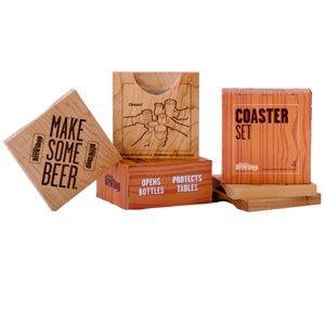 Brooklyn Brew Shop Maple Coaster & Bottle Opener Set