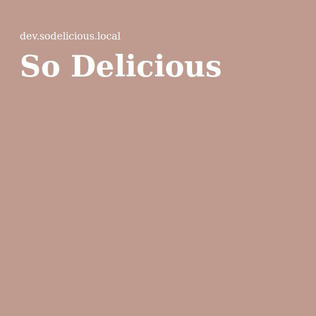 So Delicious