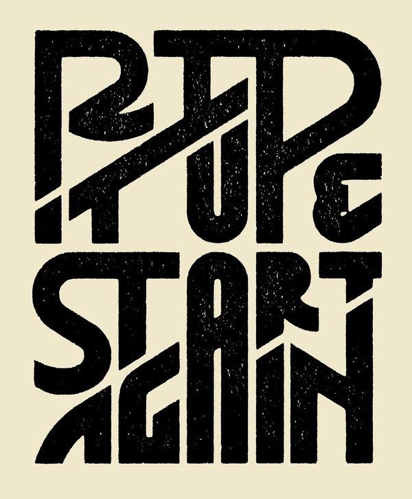 Rip it up & start again