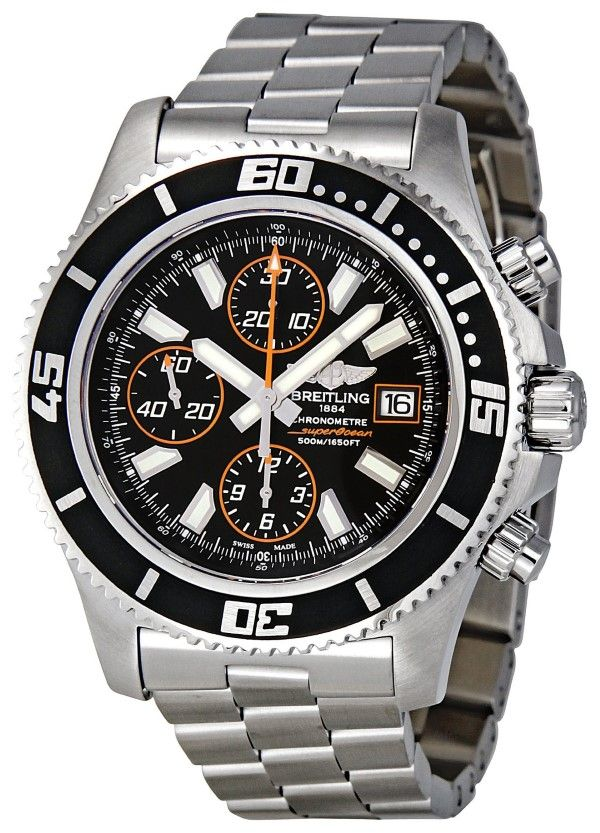 men watches: Watches for men Breitling Men's A1334102-BA85 Superocean Chronograph Watch