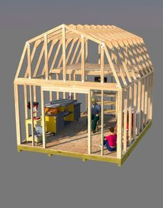 Build this awesome 12x16 barn style shed that has a ton of room to make your workshop. Get all your tools out of your already over crowded garage and get started today using these neat 12x16 barn shed plans.