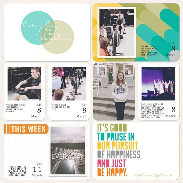 Layout by Jenn McCabe #PLxSU: Scrapbooking Projects Life,  Internet Site, Scrapbook Projects Life,  Website, Web Site, Stampin Up, Digital Project Life, Projects Life Stampin, Digital Projects Life