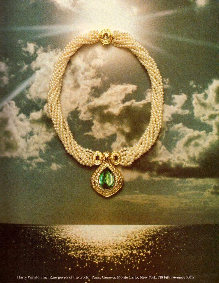 1980 Harry Winston Jewelry Jewellery Print Ad Vintage Advertisement VTG 80s | eBay