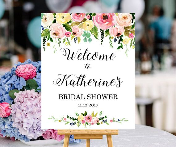 18 x 24 Sign Gold Welcome Sign Welcome Sign Bridal Shower Welcome Sign Baby Shower Pink Welcome Sign Brunch /& Bubbly Sign 16 x 20 Sign
