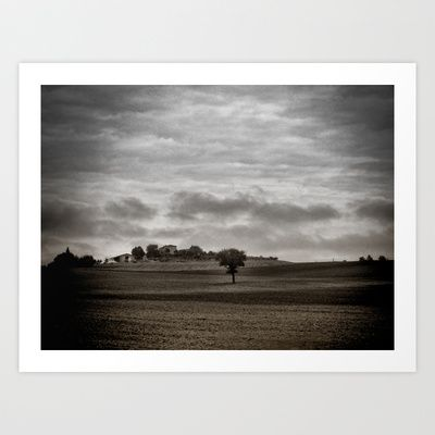 Lonely Tuscan Tree Art Print by Karen Lindale - $20.80
