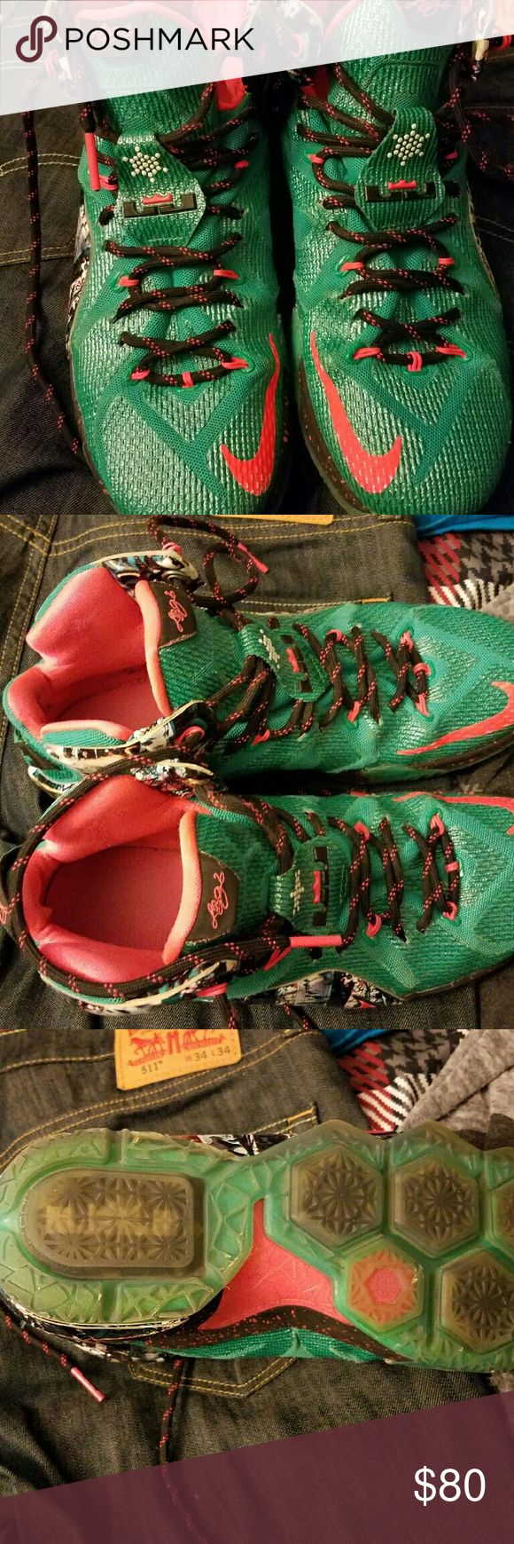 Lebron 12 Christmas Lebron james 12 Christmas Nike Shoes Athletic Shoes
