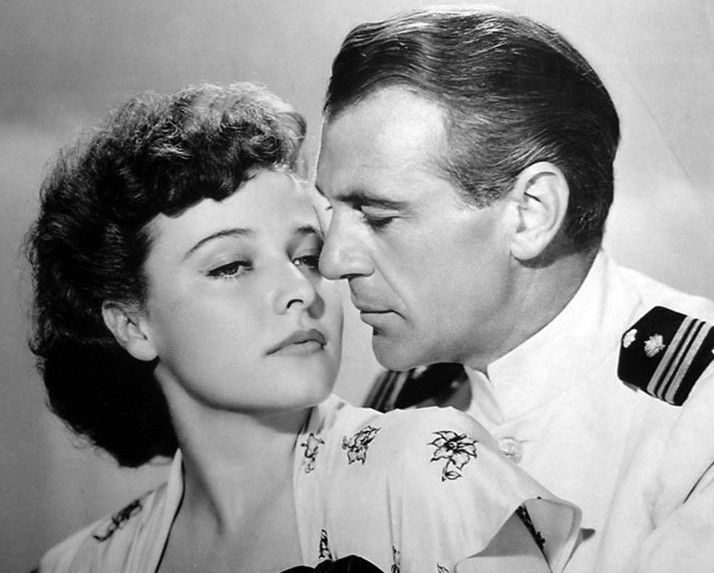 "Laraine Day and Gary Cooper in ""The Story of Dr. Wassell"" (1944)"