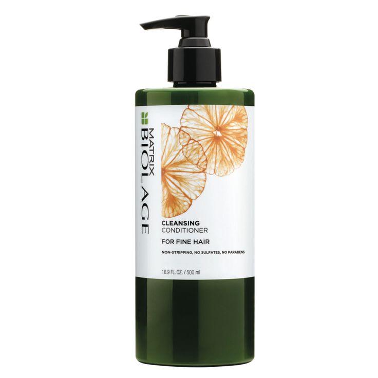 Le CC Cleansing Conditioner - cheveux fins de Matrix est un shampooing-soin 2-en-1, conçu pour apporter du volume aux cheveux fins.