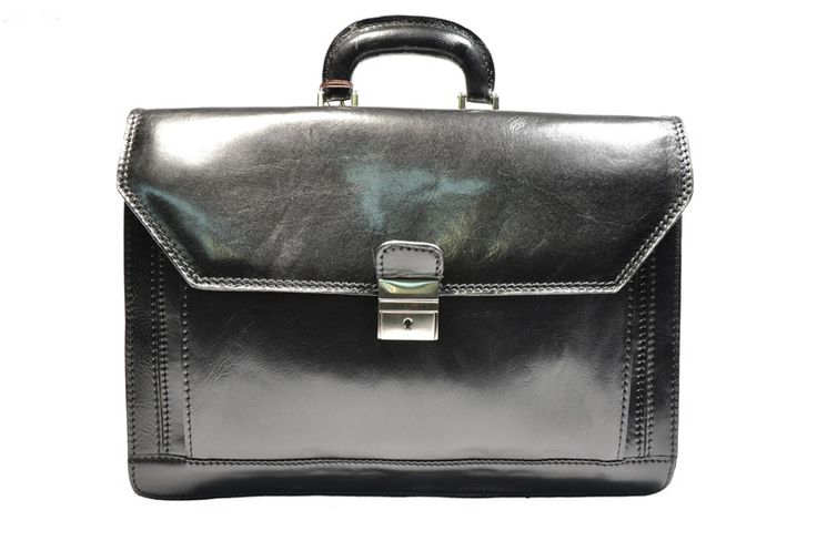 First choice legal calfskin briefcase with strap made in Italy.