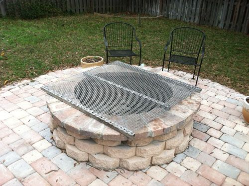 New corrugated grilling grate for the fire pit!!