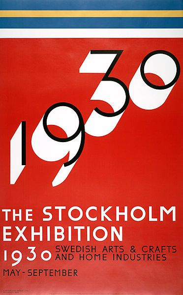 poster from The Stockholm Exhibition, 1930