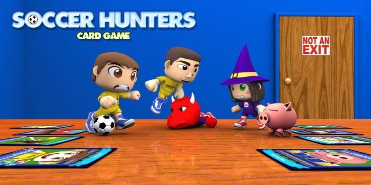 """Soccer Hunters Card Game es un apasionante juego de cartas estratégico. Enfréntate a tus rivales marcando la mayor cantidad de goles, defiende como nunca la porteria y refuerza tu equipo con fichajes estrella. Vive toda la pasión del fútbol y demuestra que eres el mejor """"soccer hunter""""."""