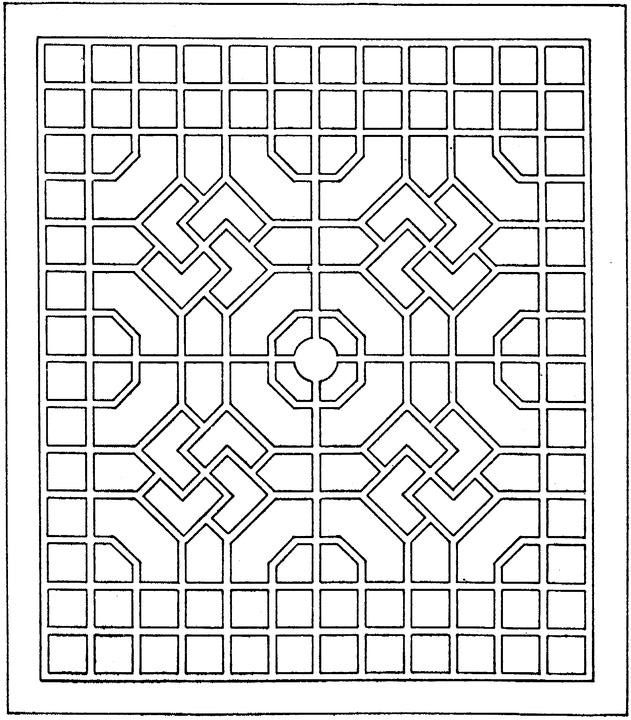 abstract coloring pages printable geometric shapes coloring page - Geometry Coloring Pages Printable