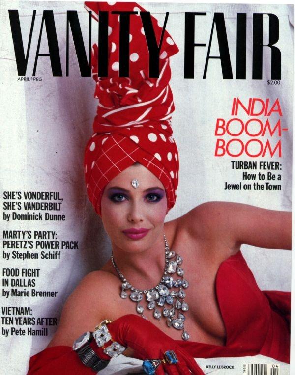 Crazy mag cover, Kelly LeBrock - Vanity Fair Magazine, April 1985