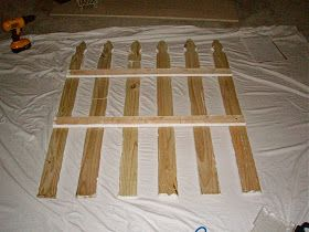 Obertopia: Super Easy Picket Fence Headboard
