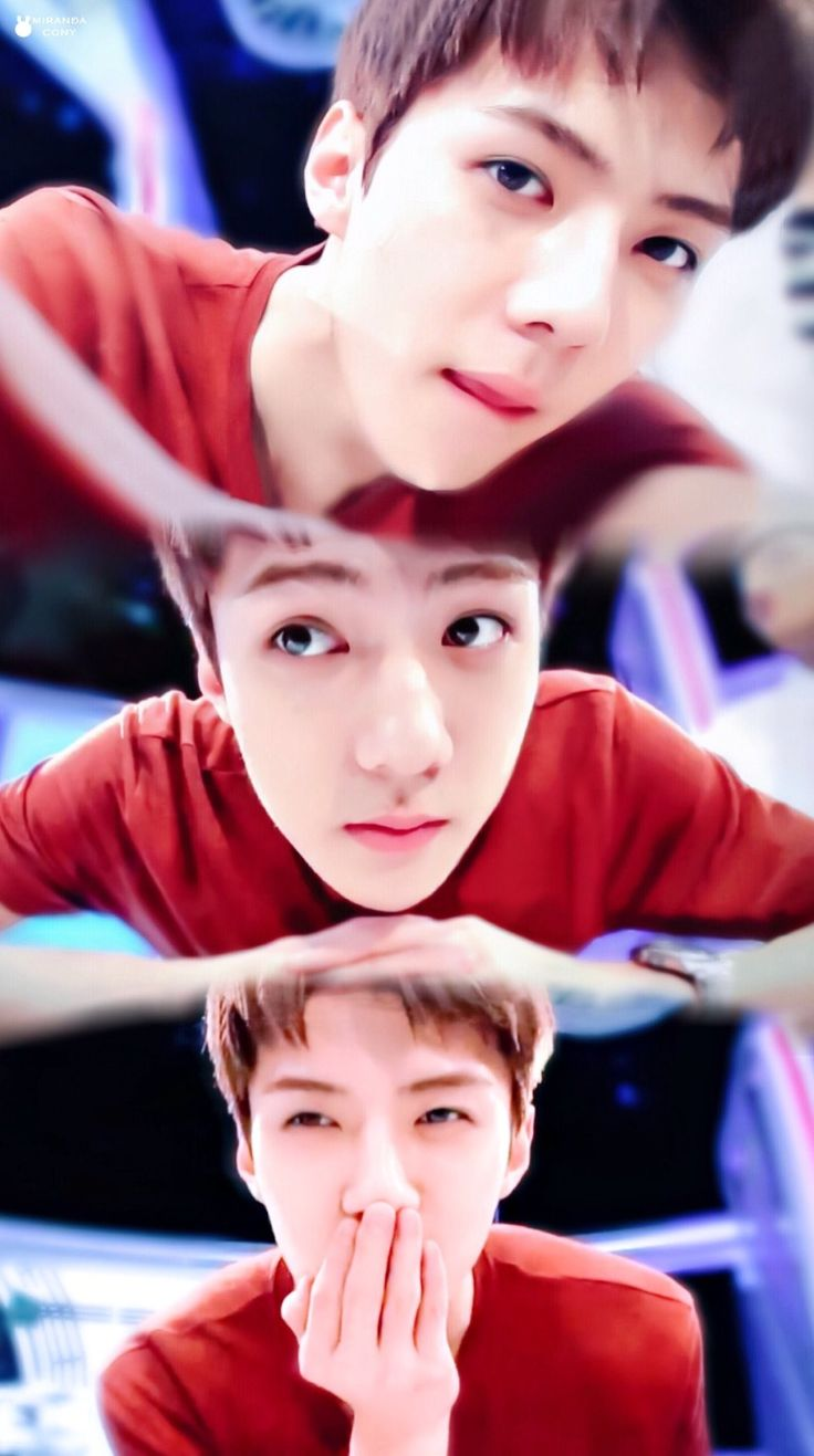 Sehun looks like a baby here aw so cute