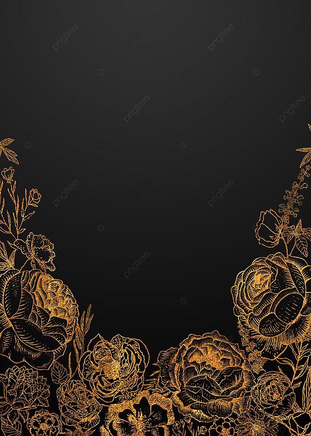 Background Bunga Hitam : background, bunga, hitam, Drawing, Exquisite, Texture, Black, Floral, Background, Latar, Belakang, Bunga,, Lukisan,