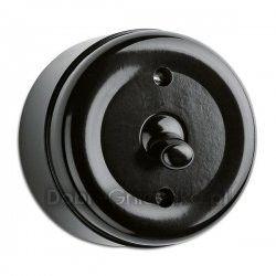 THPG switch, bakelit, universal, toggle Cost: 137PLN http://www.dobregniazdka.pl/asortyment/thpg/wylacznik-uniwersalny-natynkowy-thpg/4333