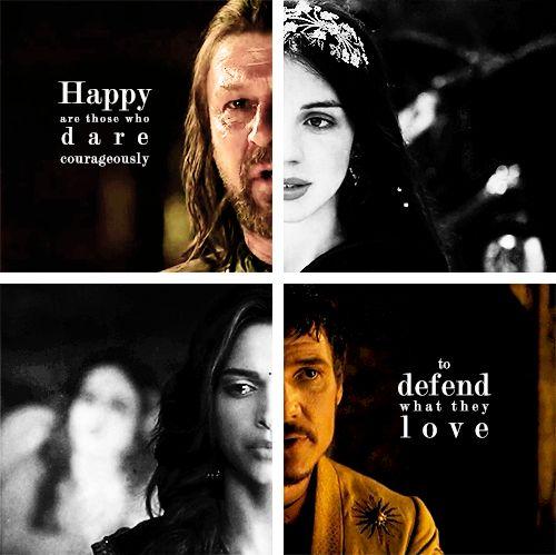 """Greatly he failed, but he had greatly dared."" - Eddard and Lyanna Stark, Oberyn and Elia Martell #got #asoiaf"