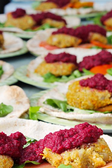 Loving Earth - Recipes - Quinoa & Sweet Potato Patty Wrap with Cashew ...