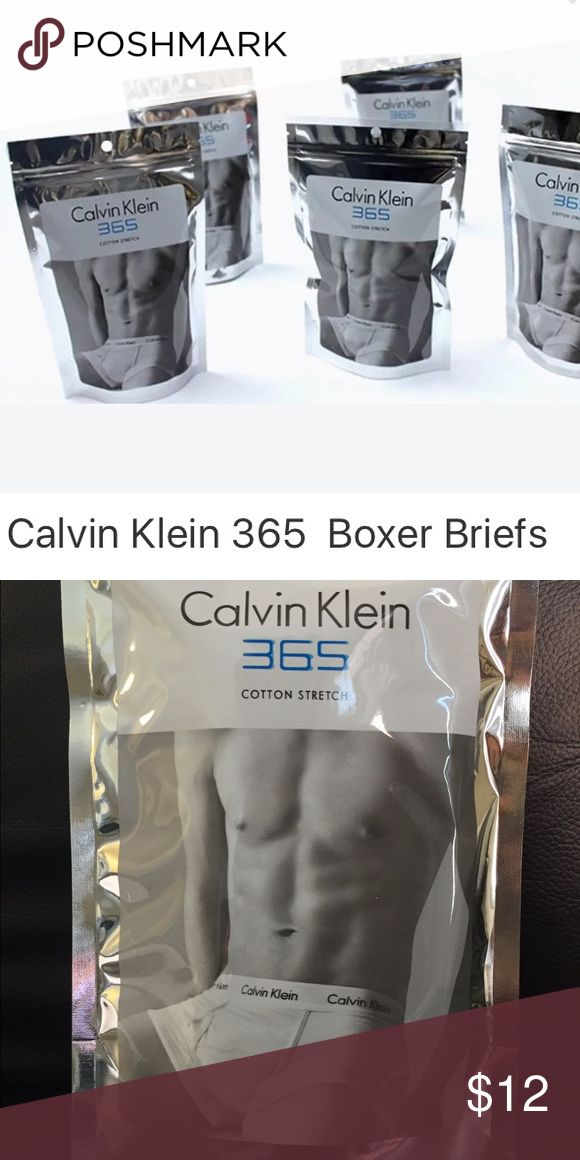 Men's Calvin Klein 365 Boxer Briefs Black or white cotton blend boxer briefs. New without tags in a sealed package. One per package. Small-medium-large sizes. Calvin Klein Underwear & Socks Boxer Briefs