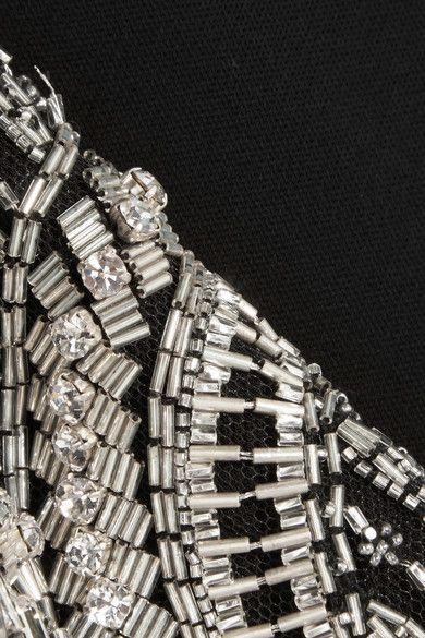 Alexander McQueen | Embellished stretch-crepe gown | NET-A-PORTER.COM