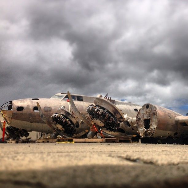 """The B-17E """"Swamp Ghost"""" Perched Outside Hangar 79, Waiting"""