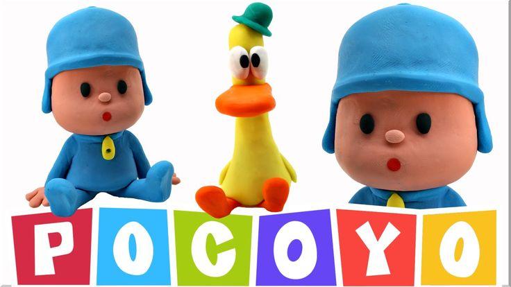 Play Doh Pocoyo Stop Motion Animación Playdough Pato y Pocoyo Juguetes