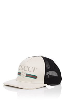 cfeb44d15 GUCCI LOGO LEATHER & MESH TRUCKER HAT. #gucci | Gucci in 2019 ...