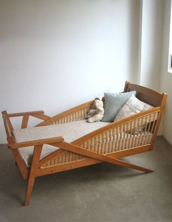 Vintage bed, so beautiful and clearly made by a craftsman. #kids #beds