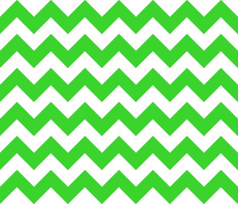 Chevrons Green and White fabric by juliesfabrics on Spoonflower - custom fabric