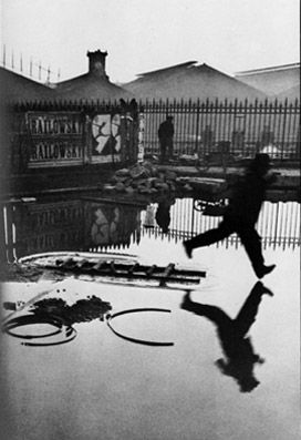 Henri Cartier-Bresson  Behind Saint-Lazare station, Paris 1932