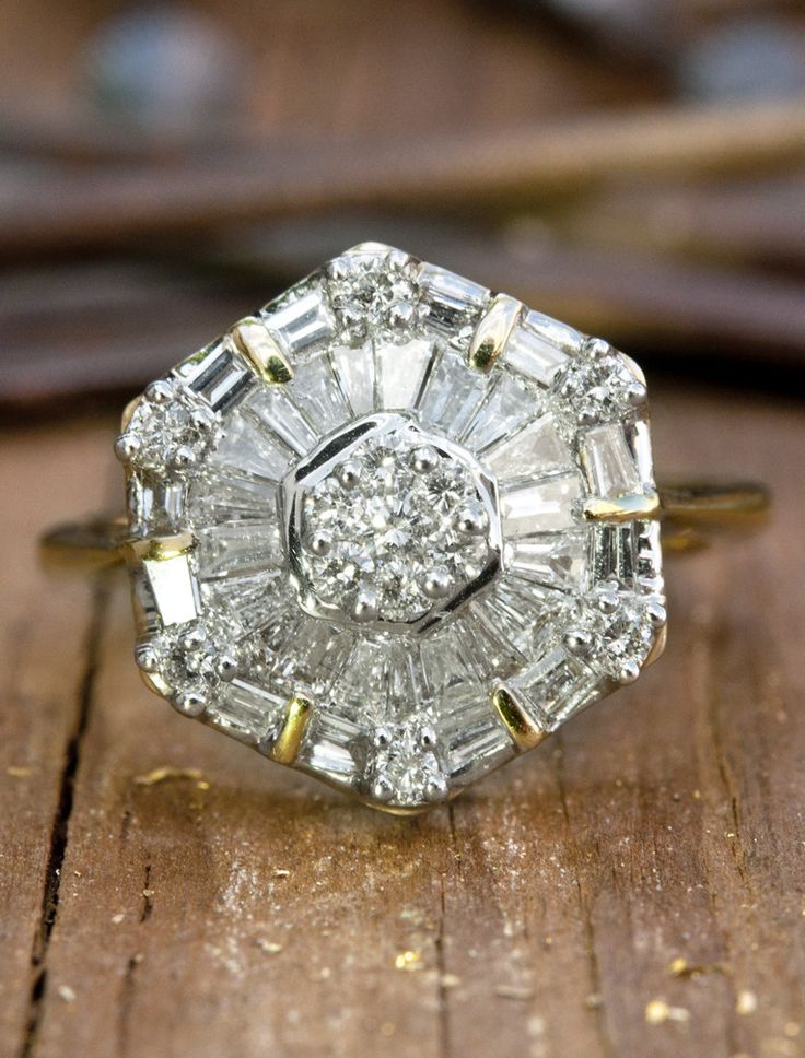 Twyla Is An Eccentric Diamond Engagement Ring Fit For The Unconventional Bride The Only Thing