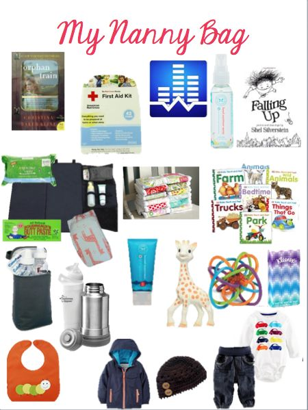 20 Essentials for a Nanny Bag