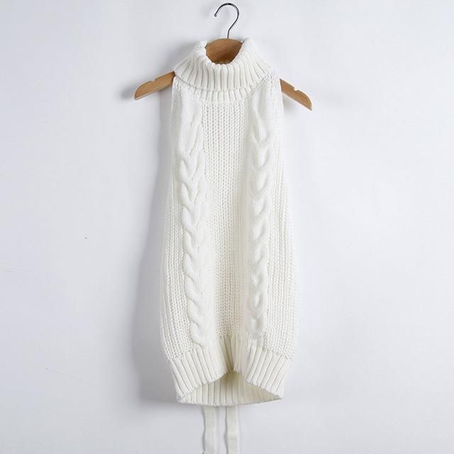 Womens Jumpers 2017 Turtleneck Off Shoulder Virgin Killer Sweater Japanes Knitted Sexy Backless Long Summer Pullovers BMY25