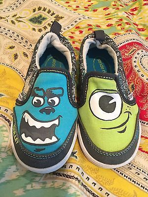 EUC STRIDE RITE MONSTER'S INC UNIVERSITY TODDLER SHOES SIZE 7 -have to paint Edmond some!