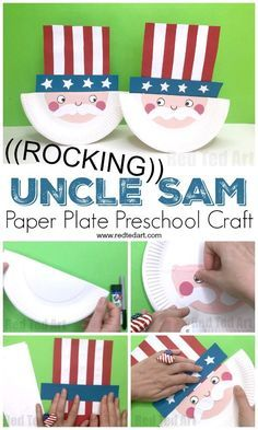 Paper Plate Uncle Sa Toddler Crafts Ideas Pinterest Crafts For