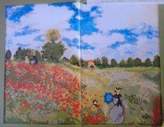 GRAFICOS PUNTO DE CRUZ GRATIS : PINTURAS(17)Amapolas de Monet.-