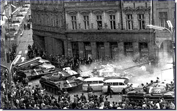 'Lenin wake up, Brezhnev has gone mad.' Such slogans chanted on street of Prague in 1968 as Russian and Warsaw Pact troops invaded #Czechoslovakia