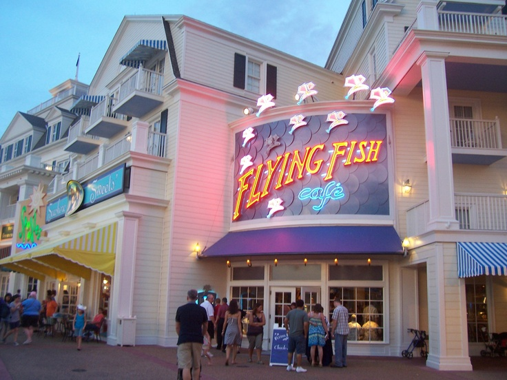17 best magic kingdom columbia harbor house images on for Flying fish disney menu