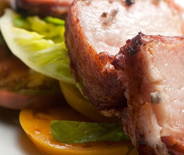 The Ultimate Bacon Guide: Bacon wrapped bacon at Fig, Santa Monica, CA